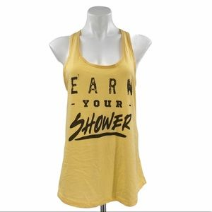 EARN YOUR SHOWER Racerback Tank Size XL